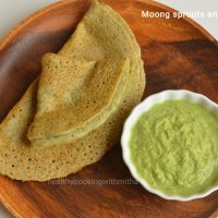 Moong sprouts and Oats dosa