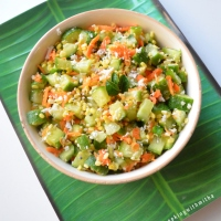 Moong dal Kosambari | Konkani style seasoned salad