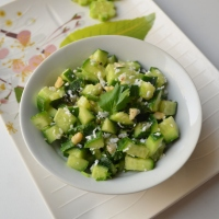 Khamang Kakdi | Seasoned Maharashtrian style Cucumber salad