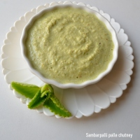Sambarpalli Chutney | Panikoorka/ Doddapatre chutney - version 2