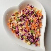 Healthy Coleslaw | Purple cabbage salad recipe